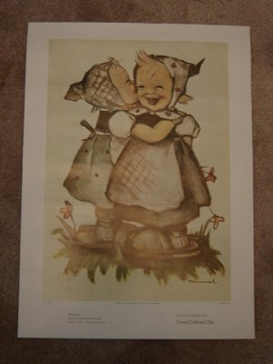 Hummel posters Goebel Collectors Club set of 3 suitable for framing