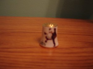 Norman Rockwell collectible thimble 1979 Christmas edition fine china by Gorham