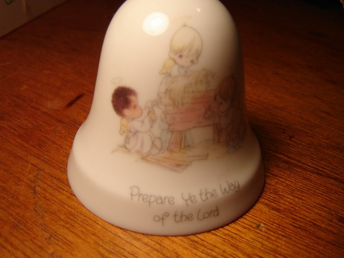 Precious Moments porcelain bell ornament Prepare Ye the Way of the Lord 1986 Enesco collectible