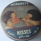 Hershey's Kisses vintage round collectible tin with cover 1982 made in England