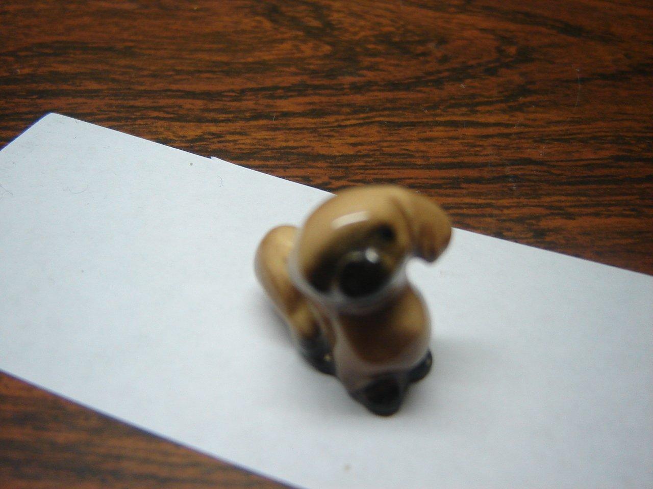 vintage Hagen Renaker miniature dog figurine Pekingese puppy collectible