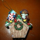 birds birdhouse Christmas wind chime ornament holiday decoration