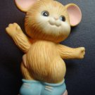 vintage Avon Best Buddies roller skating mice porcelain collectible figurine 1 mouse 1992 excellent