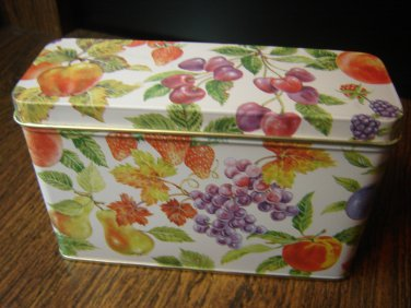 vintage fruit of the spirit tin with lid collectible Current Inc excellent condition 5.5 x 3.75 x 2