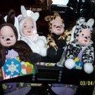 Porcelain Face Dolls in Dress-up