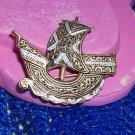 Damascrene Decorated Spanish Galleon Pin