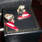 Pair of RED HAT earrings