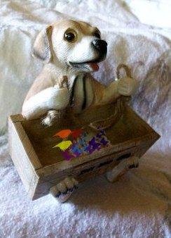 Sitting Hound Dog.