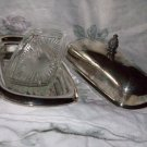 Wm Rogers 3pc Butter Dish