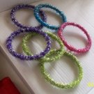 Set of 6 Children's Colored Bracelets