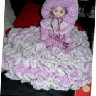Violet & White Dresses Bed Doll /reduced price/