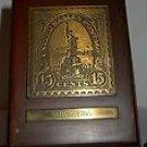 Brass Replica Statue of Liberty Stamp 1886- 1986.