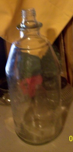 2-liter Glass Coke Bottle with American Indian screw off metal cap................