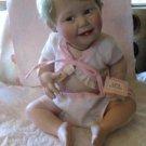 Ashton Drake Porcelain Baby Doll 'Cute as a Button' w/ COA