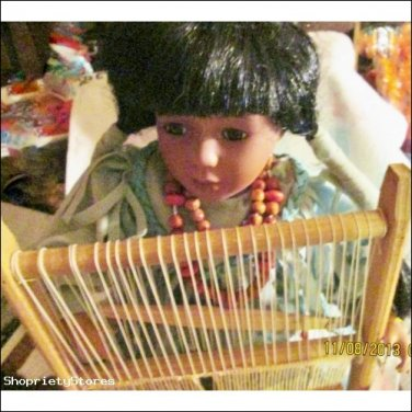 Native American Traditions Weaving Doll