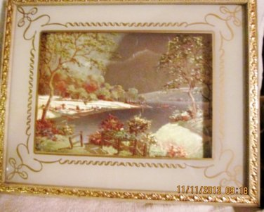 Holographic Framed Lake shore Picture