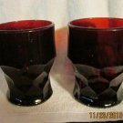 One pair of Avon Ruby Red Tumblers.
