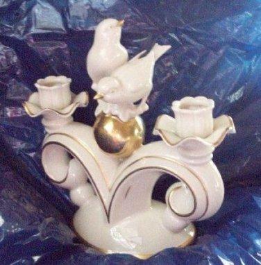 Gerold Porzellan Bird Figurine Candlestick Candle Holder