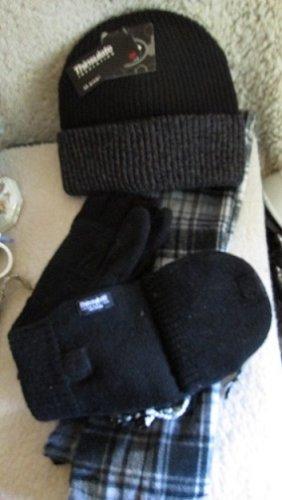 Men's Winter Set. Hat, Mitten/Glove & Scarf/ All New w/tags