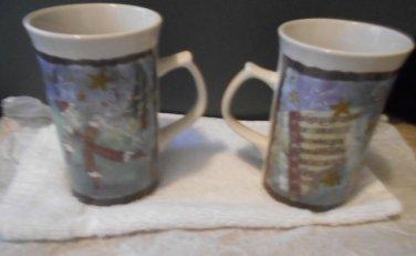 One pair of Royal Norfolk Holiday Mugs