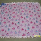 Pink ducky blanket