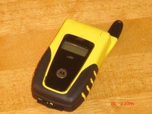 NEW YELLOW i560 Motorola Nextel W/Battery/Door & Acces!