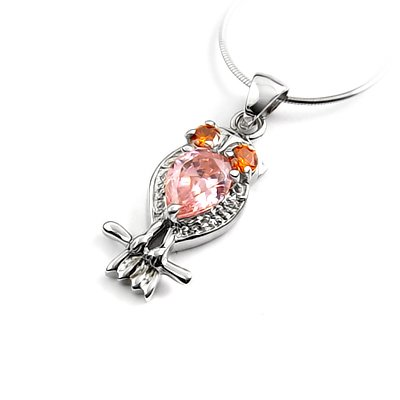 24256 -  Sterling silver pendant with Rhinestone