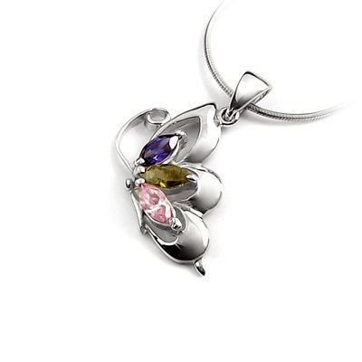 24257- Sterling silver pendant with Rhinestone