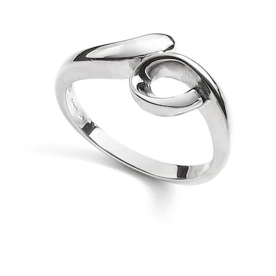 23866-sterling silver platium plated ring