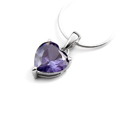 24307-sterling silver platium plated with rhinestoe pendant