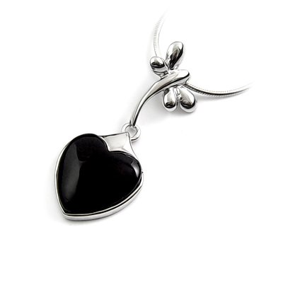 24451-sterling silver platium plated with rhinestoe pendant
