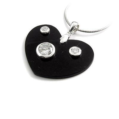 24464-sterling silver ,agate, rhinestoe pendant