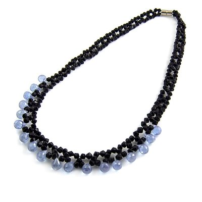 24492-rhinestoe with crystal necklace