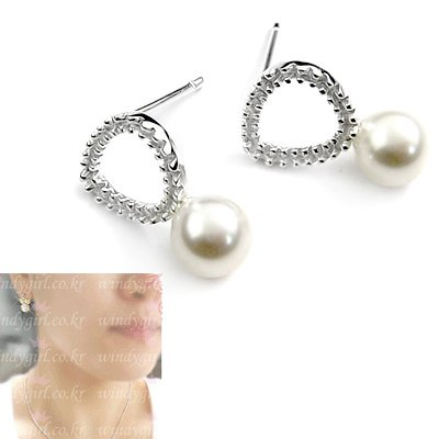 24507-sterling silver with pearl earring