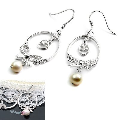 24508-sterling silver with pearl earring