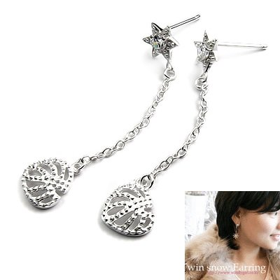 24512-sterling silver with  rhinestoe earring