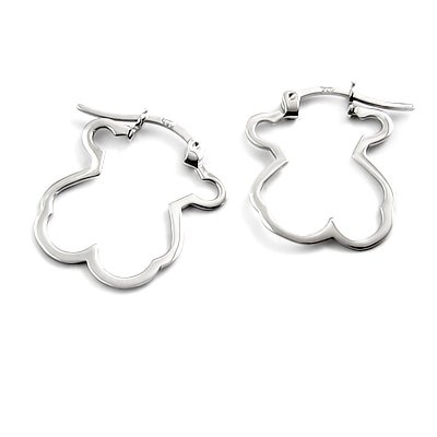 24515-sterling silver platium plated earring