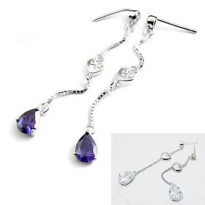 24522-sterling silver with  rhinestoe earring