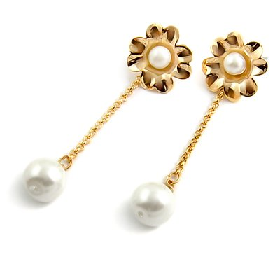 24587-alloy with artificail gemstone earring