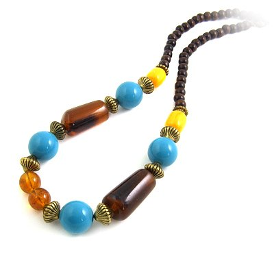 24628-resin with alloy necklace