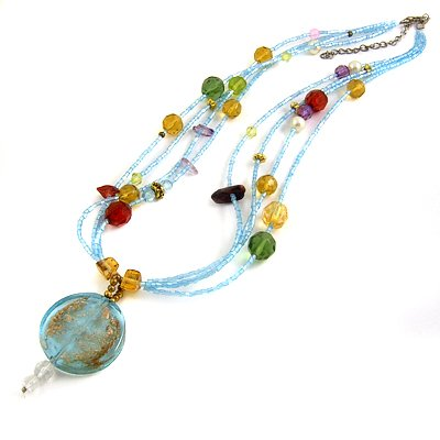 24631-resin with alloy necklace