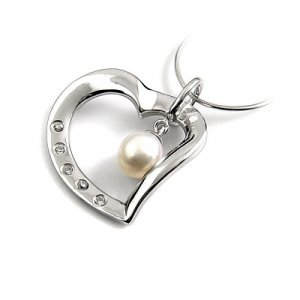 24657-Sterling silver,pearl,stone pendant