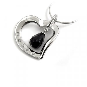 24658-Sterling silver with stone pendant