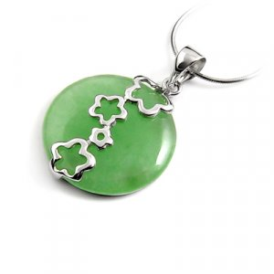 24659-Sterling silver with jade pendant