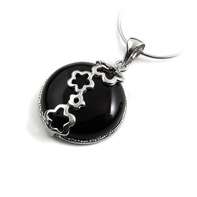 24660-Sterling silver with rhinestoe pendant