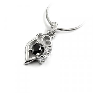 24666- Sterling silver with rhinestoe pendant