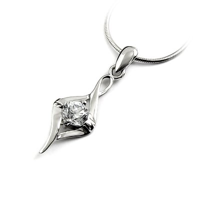 24671-Sterling silver with rhinestoe pendant