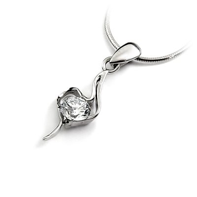 24672-Sterling silver with rhinestoe pendant