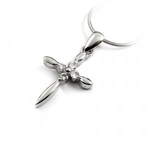 24673-Sterling silver with rhinestoe pendant
