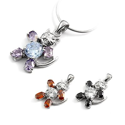 24679-Sterling silver with rhinestoe pendant